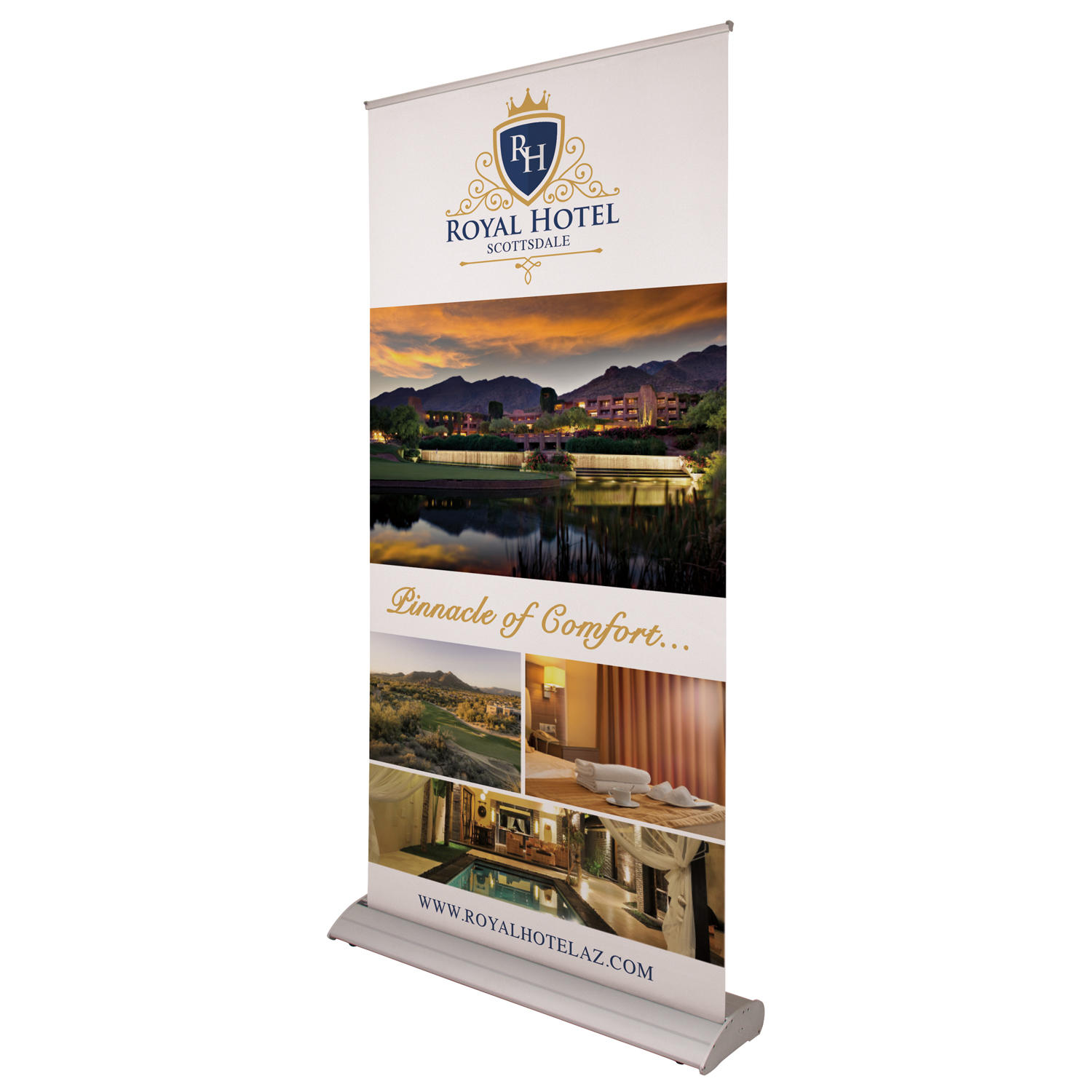 Hotel Welcome Banners Woodcut Banners
